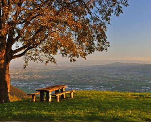 Schio vista dall'altro di giorno - Agriturismo il Maggiociondolo in provincia di Vicenza